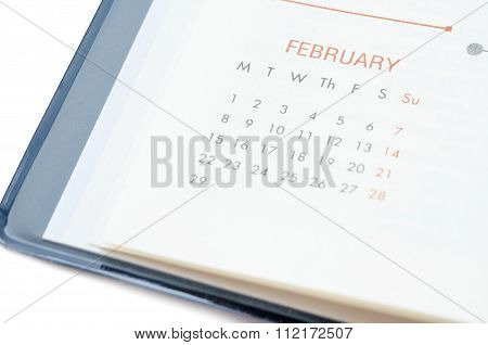 Close Up February In Diary.
