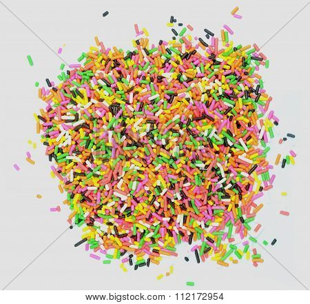 Donut Glaze And Decorative Sprinkles