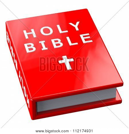 Red Book With Words Holy Bible