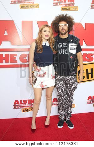LOS ANGELES - DEC 12:  Bella Thorne, Redfoo at the