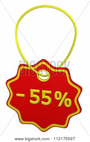 Discount - 55 % Tag