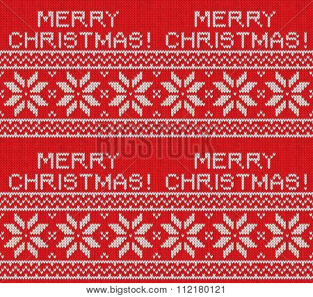 Christmas Nordic Seamless Knitting Illustration