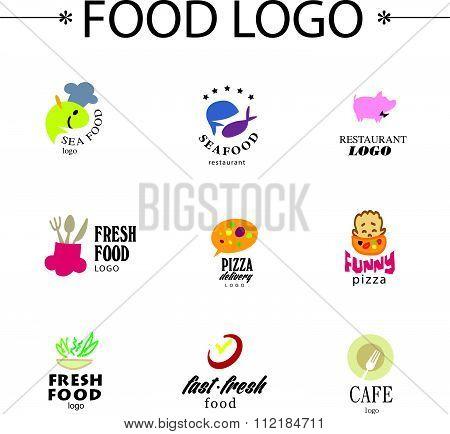 Vector set of restaurant logo design