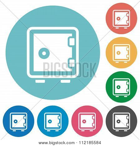 Flat Strong Box Icons