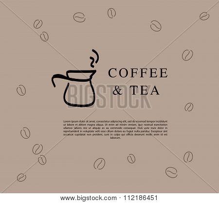 Vector logo design for coffe and tea
