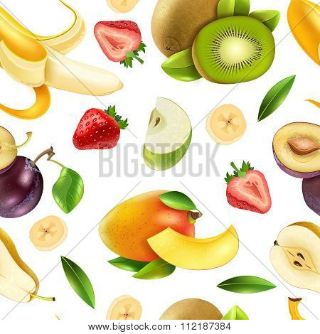 Fruits Berries Seamless Colorful Pattern