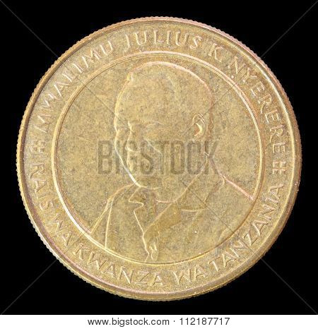 Head Of 100 Shillings Coin, Issued By Tanzania In 2012 Depicting The Portrait Of The First President