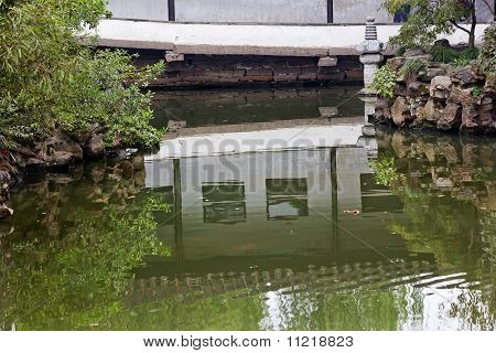 Garden Of Humble Administrator Ancient Chinese House Reflection China