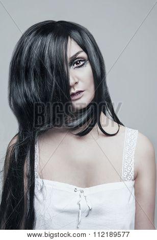Mystical Beautiful Woman Portrait