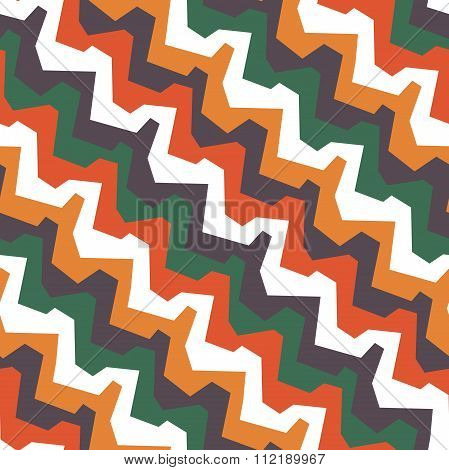 Zigzag Pattern In African Style