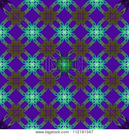Vector Seamless Illustration With Multi-collor Geometric Elements