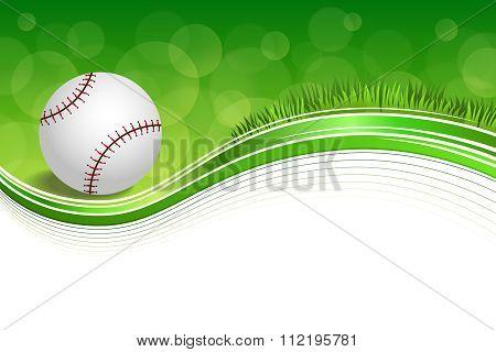 Background abstract green grass baseball ball frame illustration vector