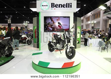 Bangkok - December 11 : Benelli Tnt Motorcycle On Display At The Motor Expo 2015 On December 11, 201