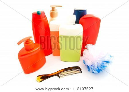Gel, Hairbrush And Other Toiletry