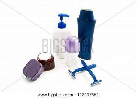 Shampoo, Razors, Cream And Deodorant