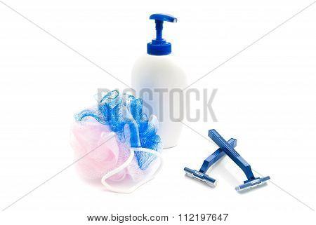 Gel, Blue Razors And Wisp