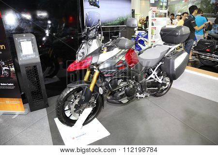 Bangkok - December 11 : Suzuki V-strom 1000 Motorcycle On Display At The Motor Expo 2015 On December