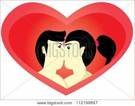 the romantic kiss