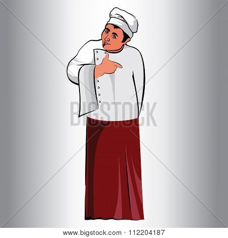 Figure Male,occupation Cook.kitchen,cook.in An Apron