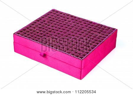 Bright Simple Magenta Box For Make-up, Jewelry, Decorations