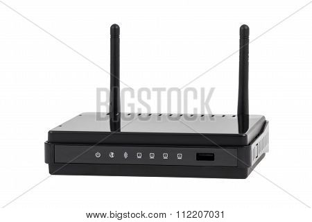 Electronic Collection - Black Wireless Internet Network Wi-fi Router