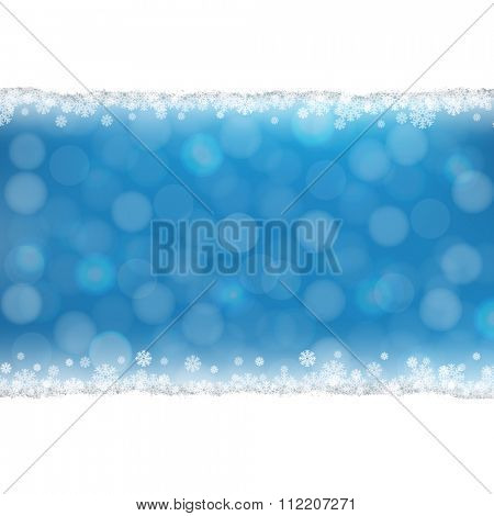 Snowflake Background With Gradient Mesh, Vector Illustration