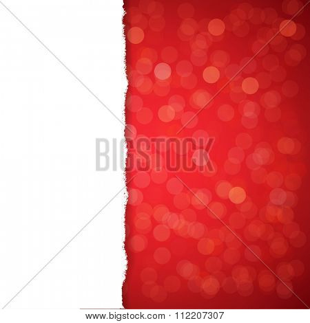 Red Glitter Background With Gradient Mesh, Vector Illustration