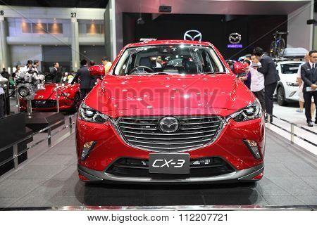 Bangkok - December 11: Mazda Cx-3 Car On Display At The Motor Expo 2015 On December 11, 2015 In Bang