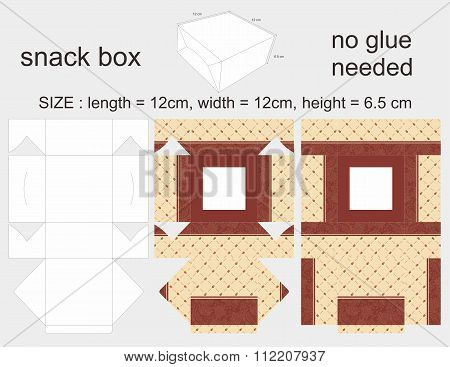 Brown Snack Box 12 X1 2 X 6,5 cm