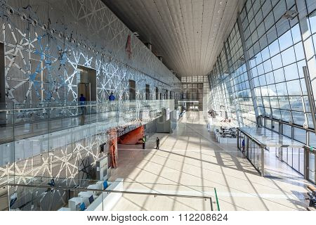 Interior Of The Doha Convention Center, Qatar