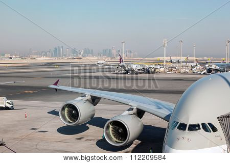 Airbus A380 In Qatar