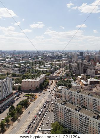 Vertical View Of Moscow From The Top