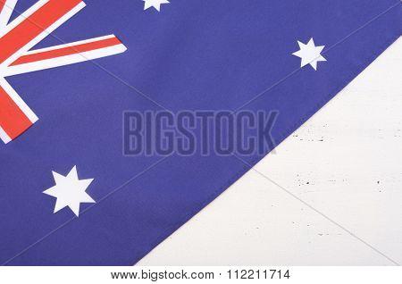 Australian Flag on wood
