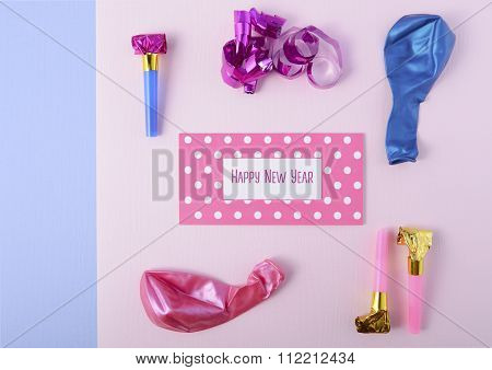 Pink And Blue New Year Decorations