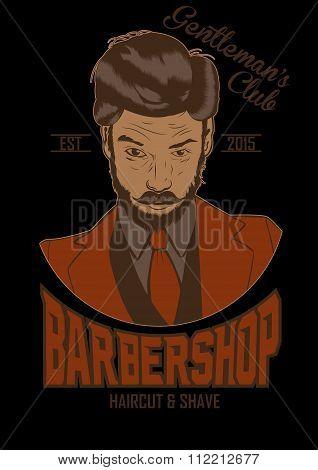 illustration of barber man. vector