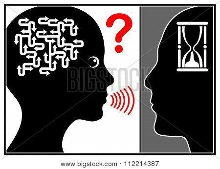 Man Stops Listening