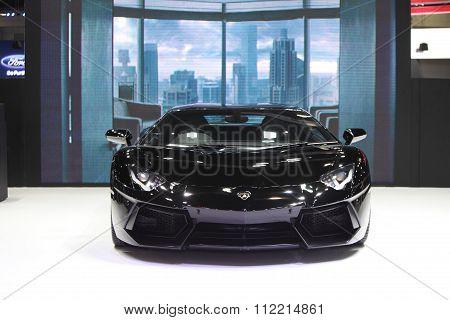 Bangkok - December 11: Lamborghini Car On Display At The Motor Expo 2015 On December 11, 2015 In Ban