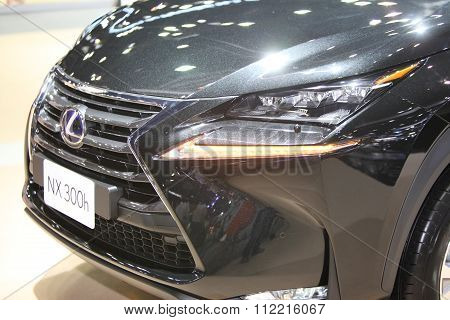 Bangkok - December 11: Zoom Front Of Lexus Nx 300H Car On Display At The Motor Expo 2015 On December