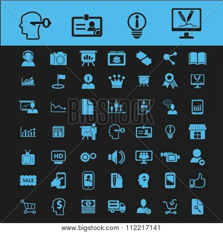 creative ideas, creativity, creative thinking, creative marketing  icons, signs vector concept set for infographics, mobile, website, application