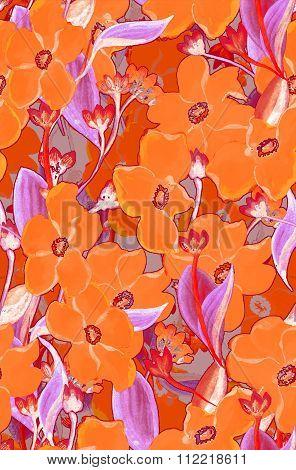 Orange flowers bouquet