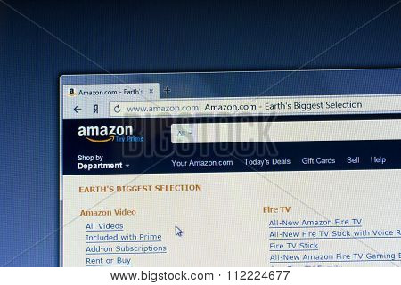Home Page Of  Amazon.com