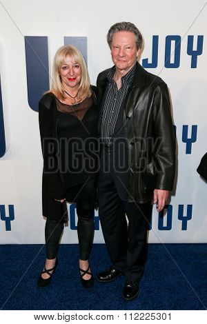 NEW YORK-DEC 13: Actor Chris Cooper (R) and Marianne Leone Cooper attend the