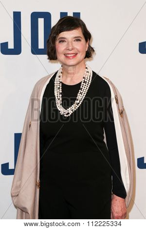 NEW YORK-DEC 13: Actress Isabella Rossellini attends the