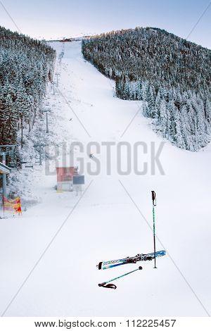 Bansko Banderitza ski lift at Banderishka polyana, Bulgaria