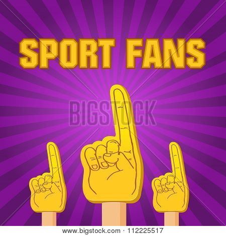 Color Sport Fans Foam Fingers