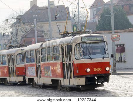Red Vintage Tram