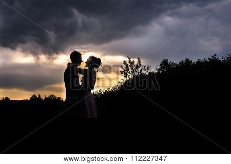 A Young Couple Walks