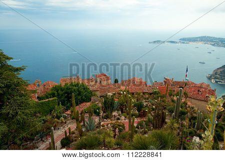 beautiful town Eze, France