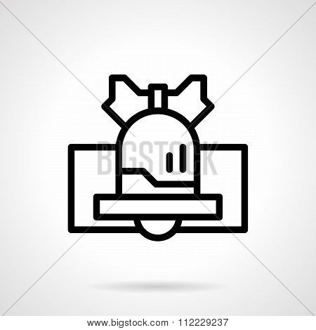 Black line handbell vector icon