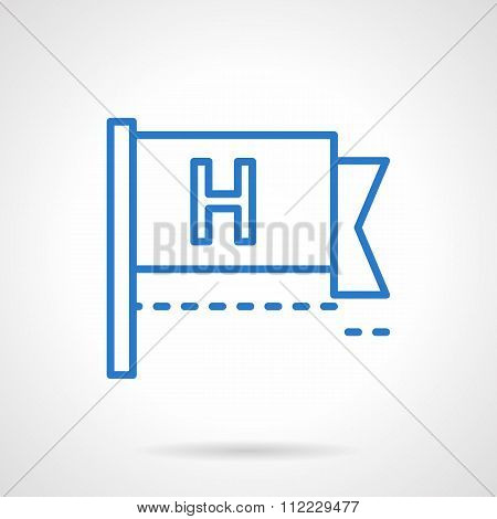 Help button vector icon blue line style